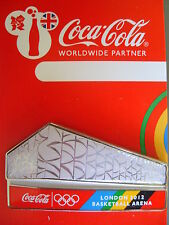 COCA COLA PIN BADGE - LONDON 2012 - BASKETBALL ARENA - MOC