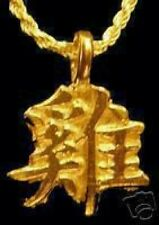 COOL Gold Plated Chinese Rooster Zodiac Pendant Charm VIRGO