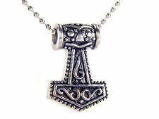 BUTW- Thor's Hammer Stainless Steel Necklace Pendant Viking Norse Mjollnir 4173E