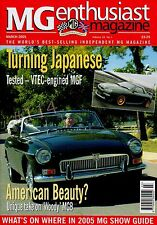 MG Enthusiast Magazine March 2005 Road Test Special MGF boasts HONDA VTEC engine