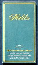 Owner's Manual * Betriebsanleitung 1979 Chevrolet Malibu  (USA)