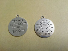 You Are My Sunshine Charms Pendants Antiqued Silver Quote Charms Song Charms