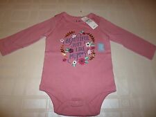 A New Baby GAP Girls Long Sleeve Novelty Bodysuit - 6-12 Months