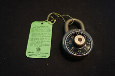 Old Vtg Master Combination Padlock With Combination & Paperwork