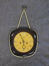 DIEHL GERMAN MADE WINDING WALL CLOCK MCM MID CENTURY MODERN ORIGINAL WORKS