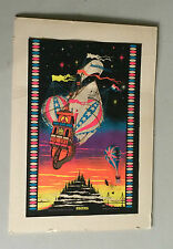 Exodus Hot Air Balloon Ship Vintage Psychedelic Black Light Poster 1971 Pin-up