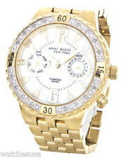 Anne Klein Women's 12/1975 Mother of Pearl Dial Gold Stainless Steel Band Watch