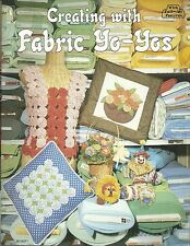 Creating with Fabric Yo Yos Craft Full Size Pattern Book Vintage 1980 OOP NEW
