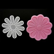 "NEW 3.75"" Round Lace Silicone Mold for Fondant, Gum Paste, Chocolate and Crafts"
