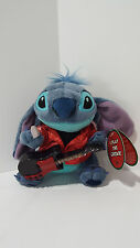 "Disney Stitch 7"" Plush Rocker Guitar Pick Play Various Songs Stuffed Animal Toy"
