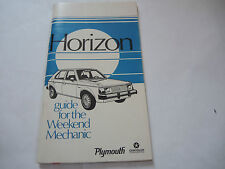 Heft Prospekt Betriebsanleitung Owners Manual Horizon Plymouth Chrysler - RAR