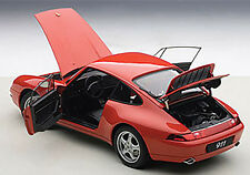 Autoart 1995 Porsche 993 Carrera Red in 1/18 Scale. New Release! In Stock!