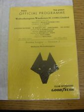 15/04/1992 Wolverhampton Wanderers Reserves v Huddersfield Town Reserves  (4 Pag