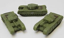 Pack of 3 World Tanks Depot 28010 1:87 Churchill VI, Infantry Tank Mk. I Diecast