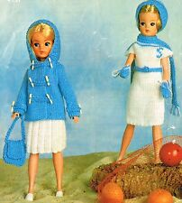 "12"" Teenage  Dolls clothes knitting  pattern  .Laminated copy.(V Doll 19)"