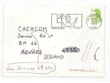 EE55 1983 France Adresse Incomplete Cover {samwells-covers}PTS