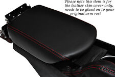 RED STITCHING FITS NISSAN GT-R R35 2009-2013 LEATHER ARMREST COVER ONLY