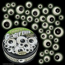 18 Pairs Of Glow In the Dark Emergency Googly Eyes With Adhesive Back In A Tin