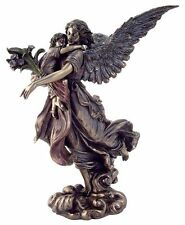Guardian Angel Holding Baby Child Statue Figure Cherub Christian #1711