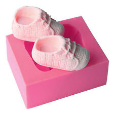 3D Baby Pink Shoes Silicone Cake Chocolate Mould Fondant Baking Mold Decor