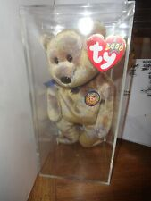 BEANIE BABY CLUBBY III  , RETIRED  WITH ORIGINAL TAGS , IN ACRYLIC BOX
