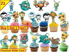 42 OCTONAUTS Birthday Cup Cake Toppers Rice Wafer Edible Party *STAND UP