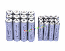12 AA 3000mAh + 12 AAA 1800mAh 1.2V NI-MH Rechargeable Battery 2A 3A Grey Cell