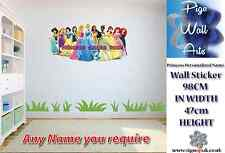 Disney Princesses children's bedroom wall sticker Personalized Name large.
