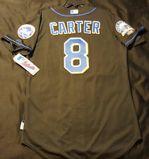 Majestic ALL SIZES NEW YORK METS, BLACK, GARY CARTER COOL BASE SHEA PATCH Jersey