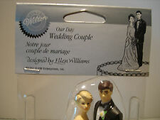 Wedding Bride Groom Couple Blonde Brunette Brown Cake Topper-Lot of 6 Toppers