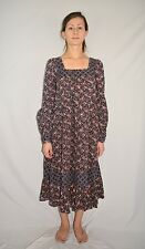 Vintage 70s Gunne Sax by Jessica McClintock Calico Flower Tent Dress Size 2XS/XS
