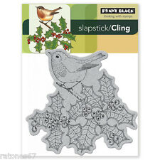 New Penny Black NATURE'S BEST Slapstick Cling Rubber Stamp Bird Christmas Winter