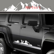 2PC Hot Truck Sticker Super Cool Mountain Range Sticker Vinyl Decals For Jeep