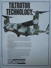 9/1990 PUB BELL BOEING TILTROTOR TEAM V-22 OSPREY MARINES ORIGINAL AD