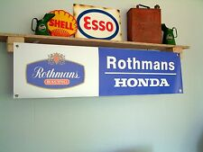 Rothmans Honda Racing pvc workshop banner for garage / workshop or trackside use