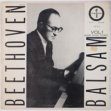 BEETHOVEN: Short Piano Works BALSAM Washington USA 50s VINYL LP Rare HEAR
