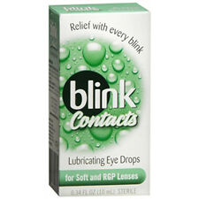 Blink Contacts Lubricant Eye Drops For Soft And RGP Lenses - 0.3 oz  (3 PACK)
