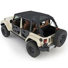 Jeep Wrangler JK Mesh Extended Soft Top 2007-2009 4 Door Black Smittlybilt 94500