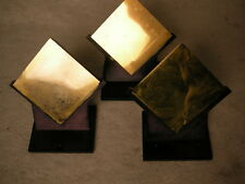 LOT OF 3 PLX SQUARE LASER MIRROR REFLECTOR FOR COLLEGE RESEARCH INSPECTION