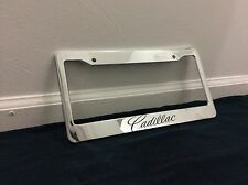 Chrome Cadillac Personalized Custom  License Plate Frame tag holder