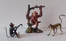Britains & TIMPO dipinto PIOMBO arrampicata scimmia-Monkey Scimmia & CERCOPITECO su albero