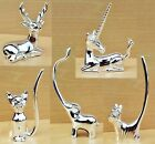 Jewellery Ring Display Holder Organiser Cat Unicorn Dog Elephant Stag Silver
