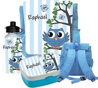 Kindergartenrucksack Eule mit Brustgurt + Zubehör Kinderrucksack  Rucksack