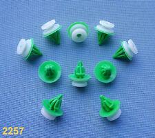 (2257) 10x Zierleistenklammern für Renault Klip für Zierleisten weiß grün