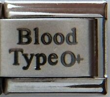 Blood Type O+ Laser Medical Alert for Italian Charm Bracelets Free Medical Card