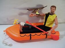 "GI JOE ADVENTURES CHALLENGE AT HAWK RIVER 12"" FLOCKED HAIR ACTION FIGURE RAFT"