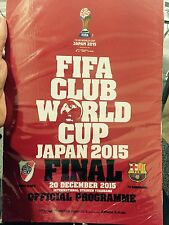 FIFA CLUB WORLD CUP 2015 PROGRAM IN HAND! Barcelona River Plate FINAL version!