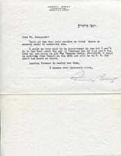 ROMNEY BRENT ACTOR IN ZORRO & TO HELL WITH HITLER SIGNED LETTER AUTOGRAPH