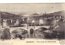 Suisse - GENEVE - Vue prise de St Jean