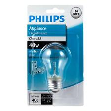 Philips 416768 40-Watt Incandescent A15 Clear Appliance Light Bulb Free Shipping